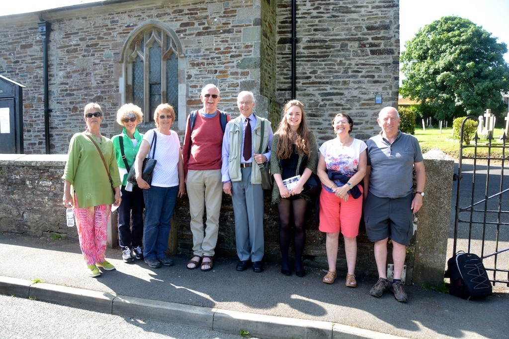 Causley Walk with Arthur Wills (centre), at St Thomas Church