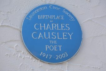 Plaque on Causley's birthplace in Riverside, St. Thomas