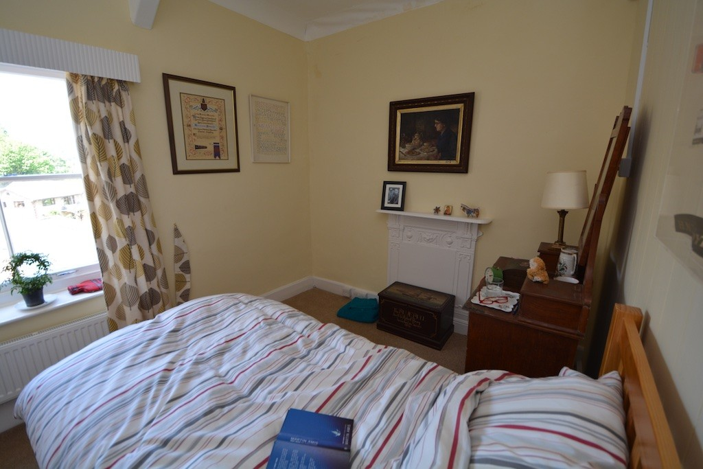 Charles Causley's refurbished bedroom at Cyprus Well