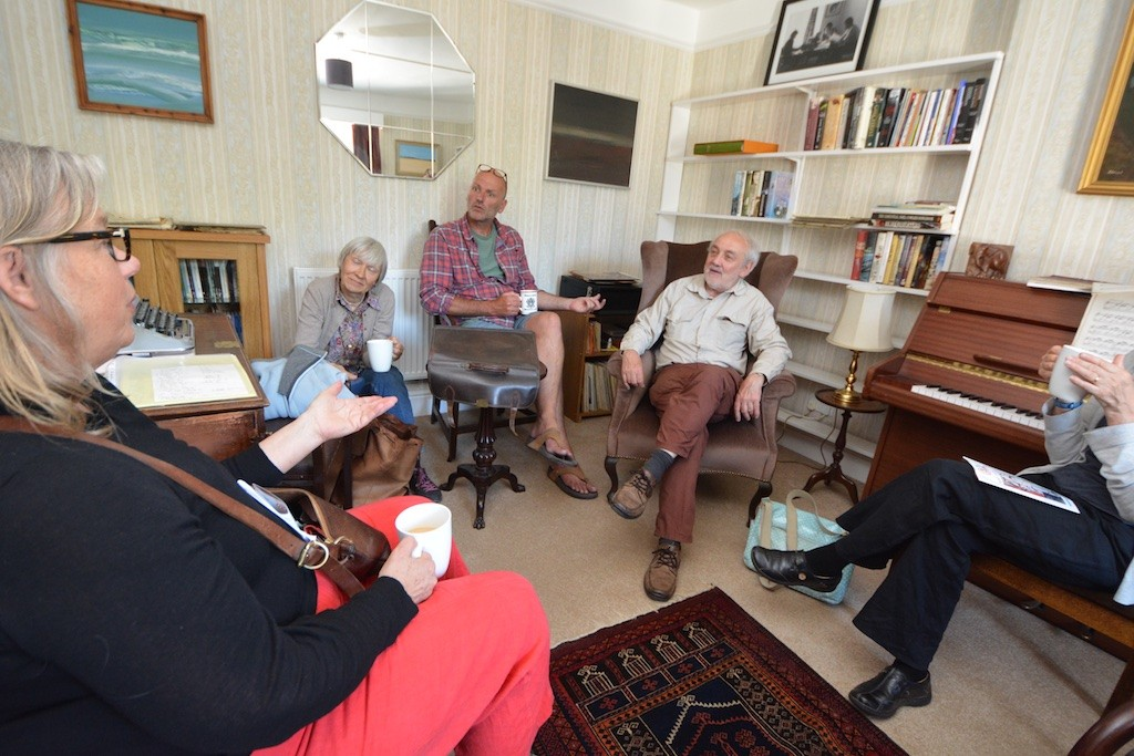 Discussions in the sitting room at Cyprus Well