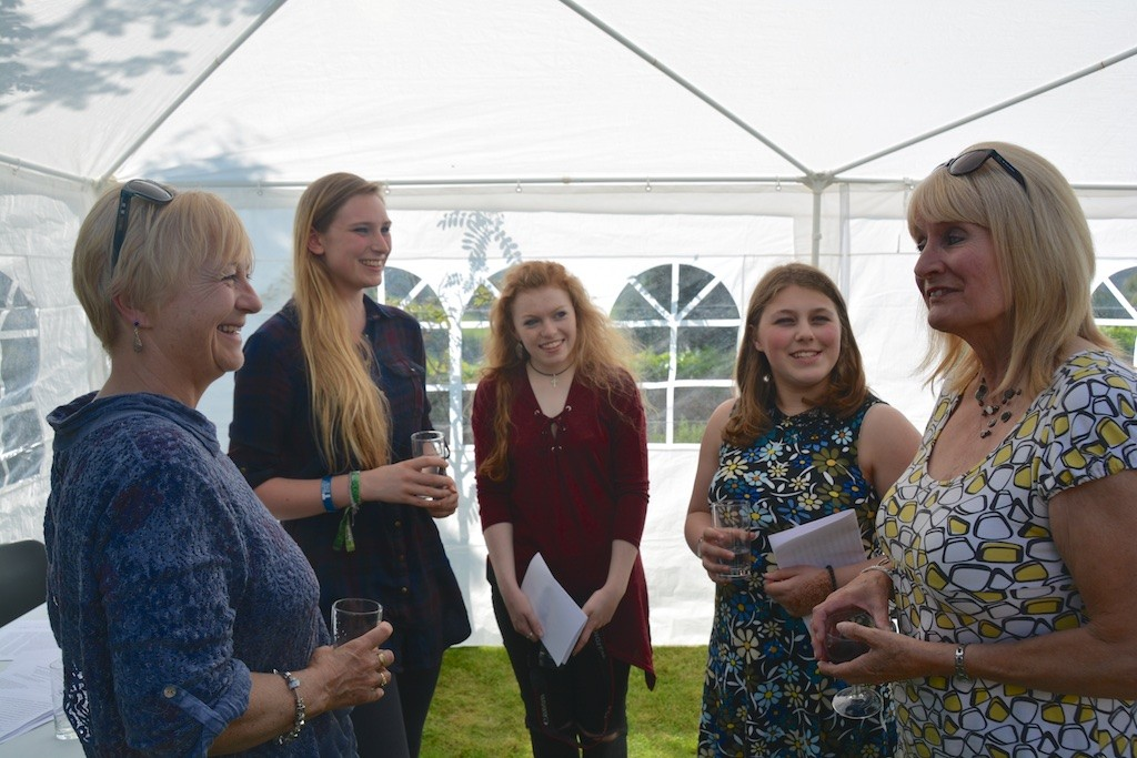Falmouth University staff and students, with Jane Nancarrow