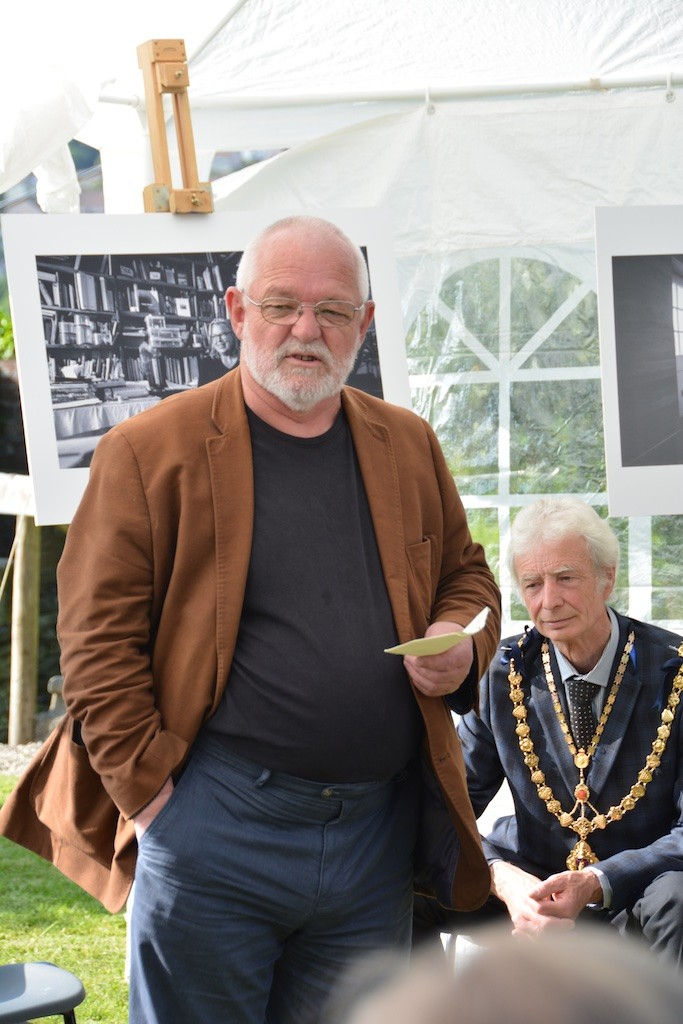 Bert Biscoe, and the Mayor of Launceston: opening 'A Space to Write'