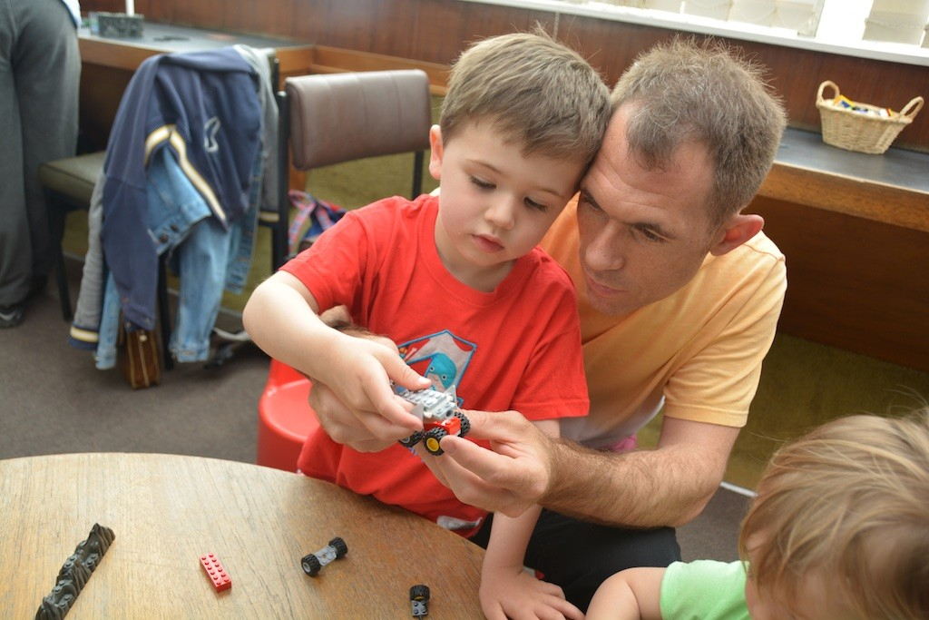 Launceston Library: the 'Lego with Causley' session