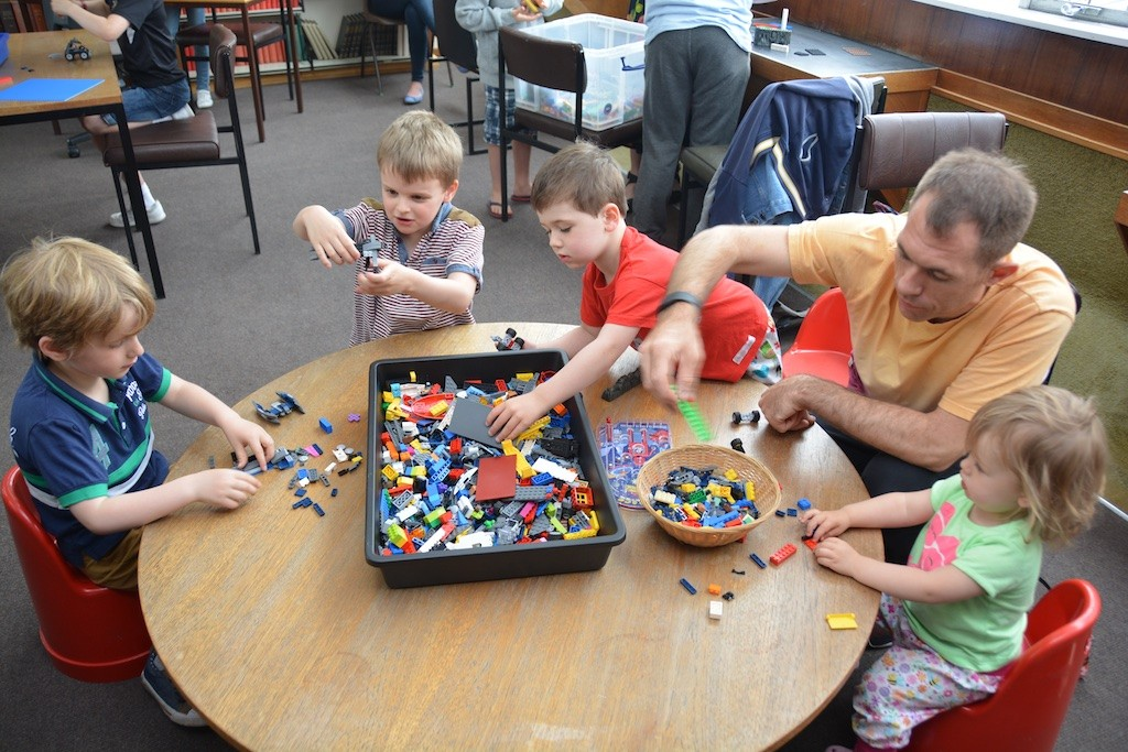 Lotsa Lego! The free Saturday morning session at the Library