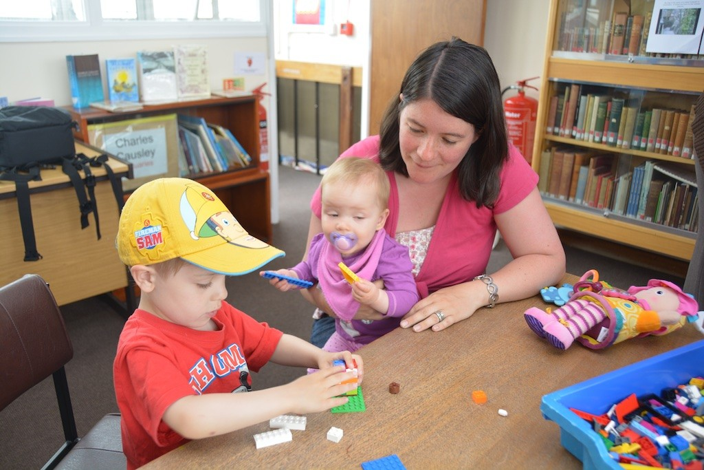 Intent on the Lego world, at Launceston Library