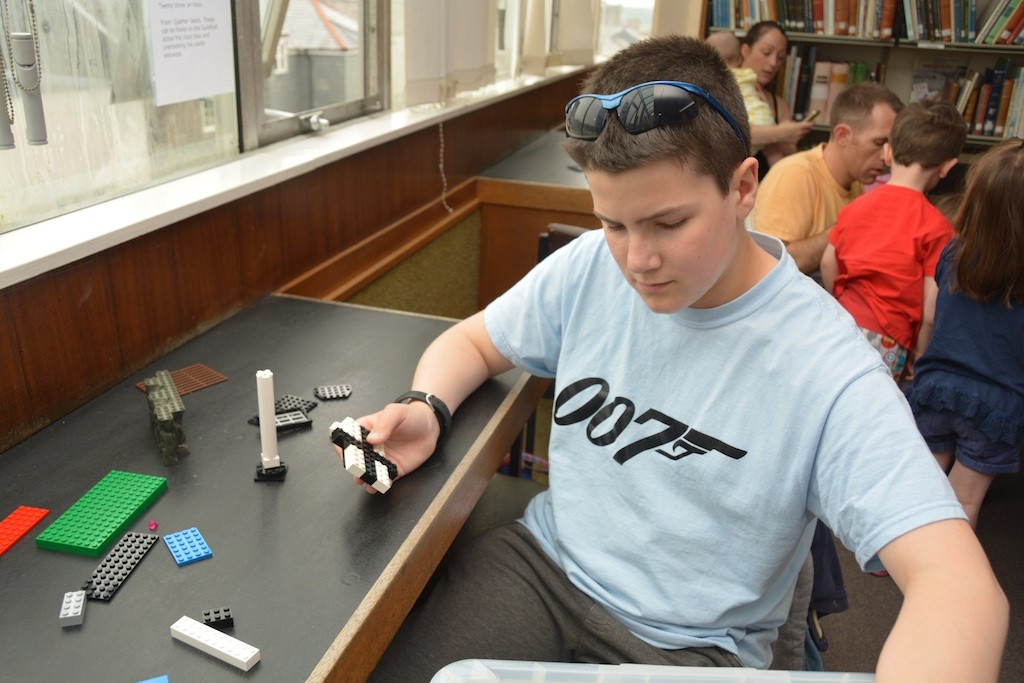All ages at the Library's free 'Lego with Causley' session