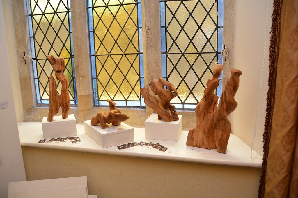 Gwynngala: driftwood sculpture: Town Hall, Otho Peter Room