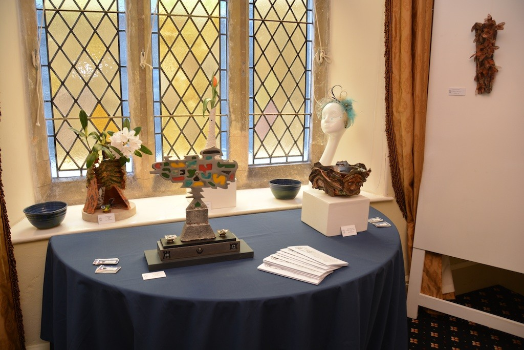 A mixed-media display from Gwynngala's members