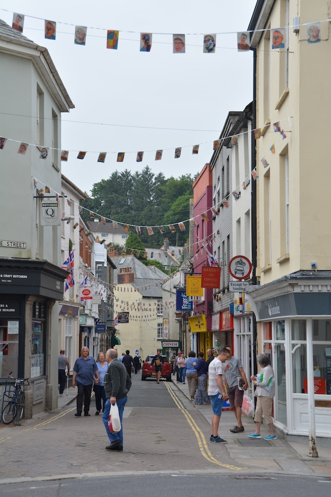 Launceston Youth Council's bunting project, festooned down Westgate