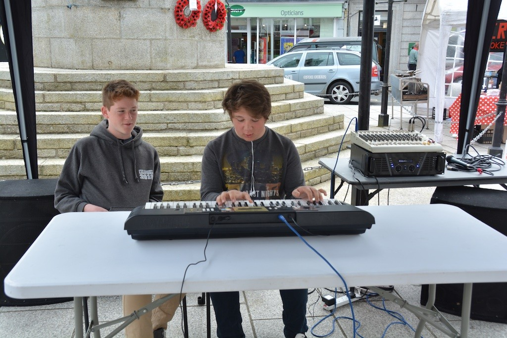 Young performers having, and providing, 'Fun in the Square'