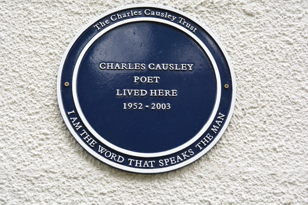 The Causley Trust's new memorial plaque at Cyprus Well