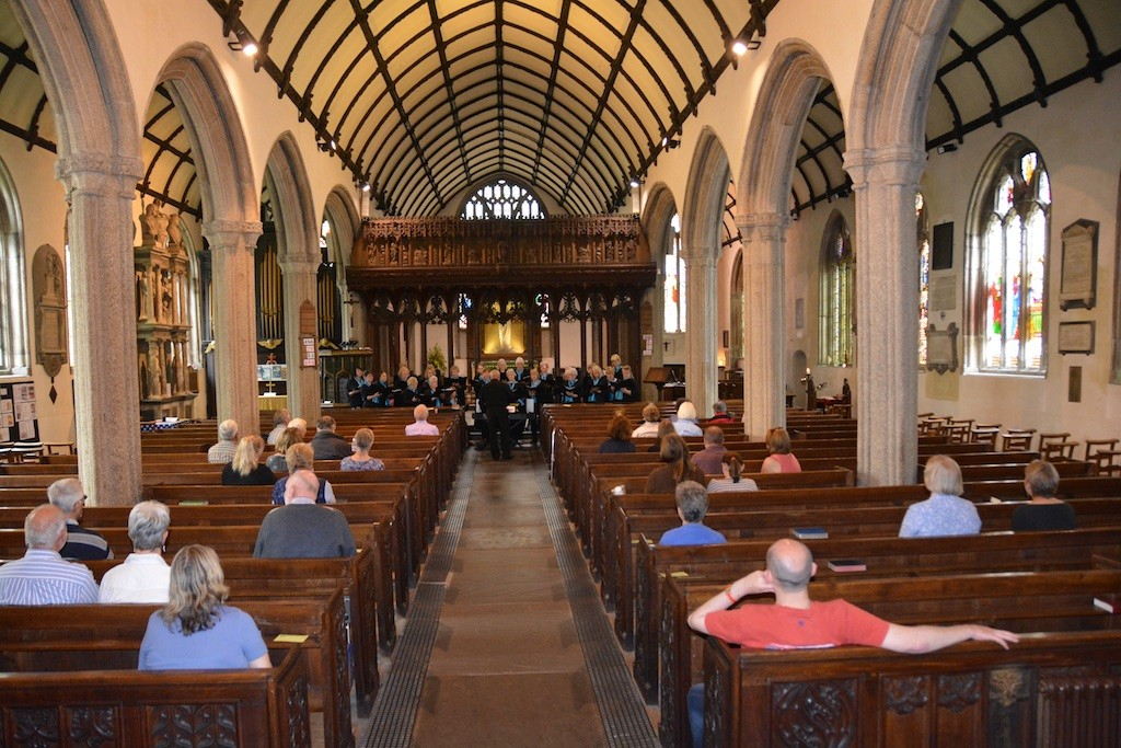 The Tregadillett Songbirds performing in St. Mary Magdalene