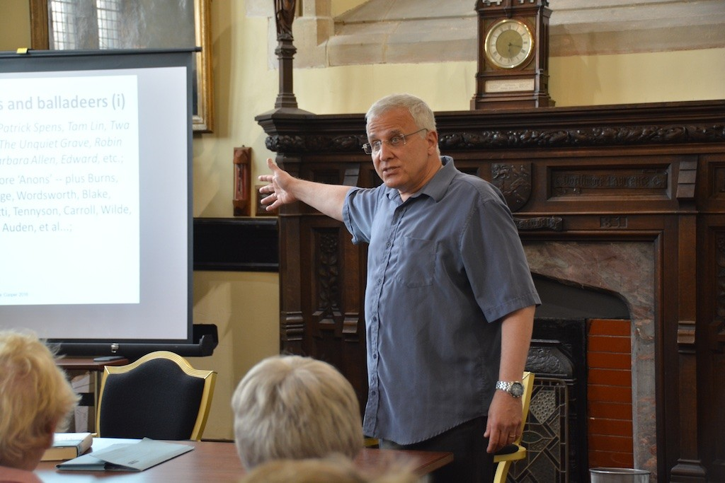 Exploring the ballad form, and Causley's poetic varieties, with Mike Cooper