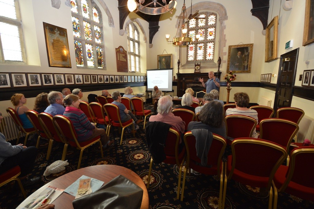 Mike Cooper's talk on Charles Causley and ballads, in the Guildhall