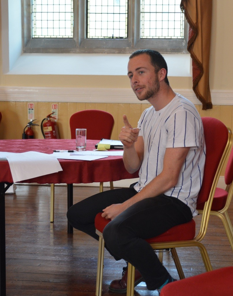 Slam poet and performer Ben Norris marks a moment