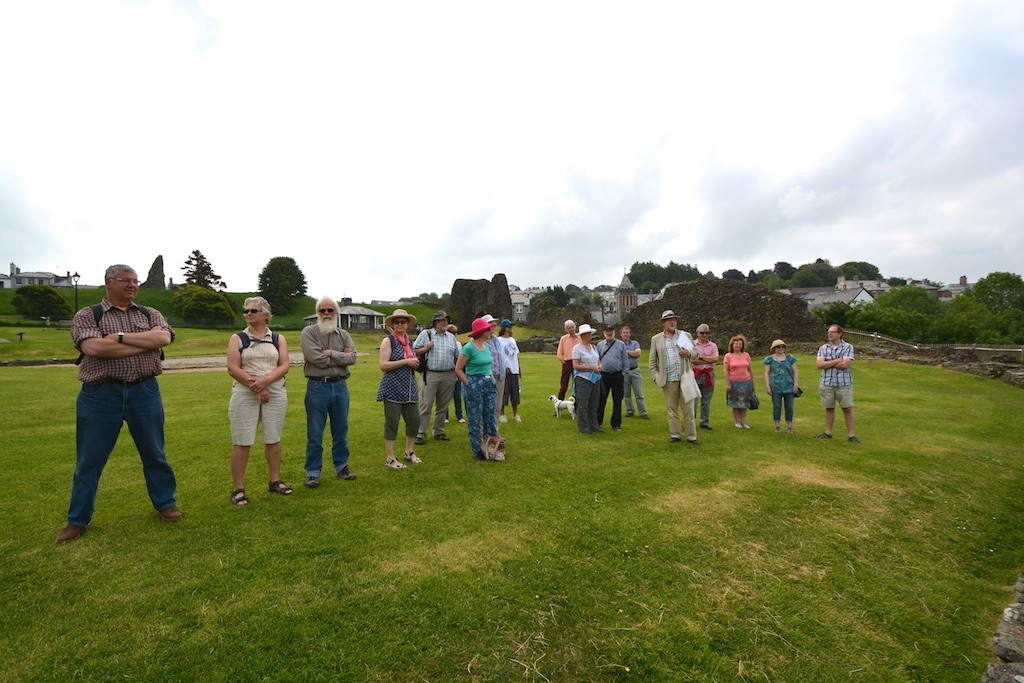 Ron Tremain leads the Launceston Town Walk at the Castle Green