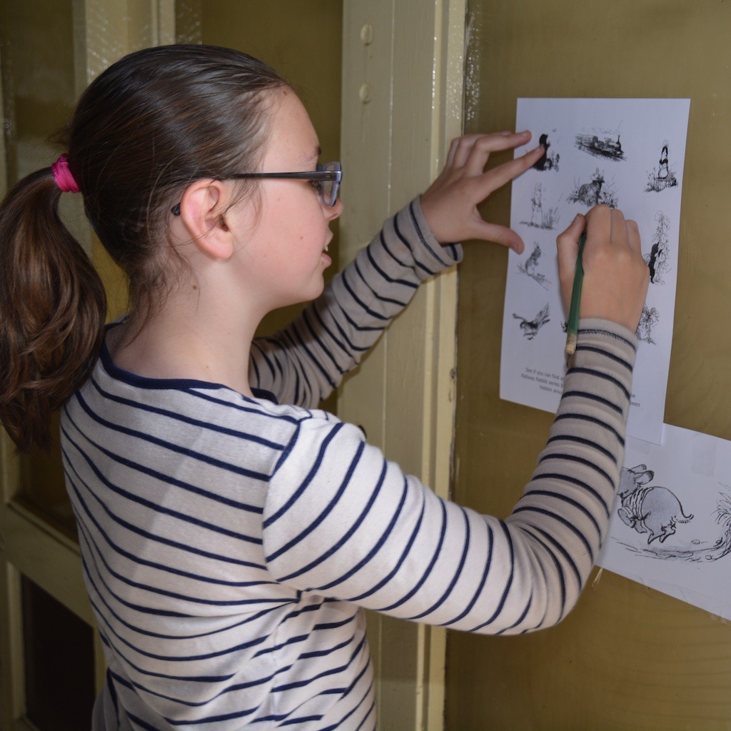A 'Railway Rabbits' reader tries her hand at illustration