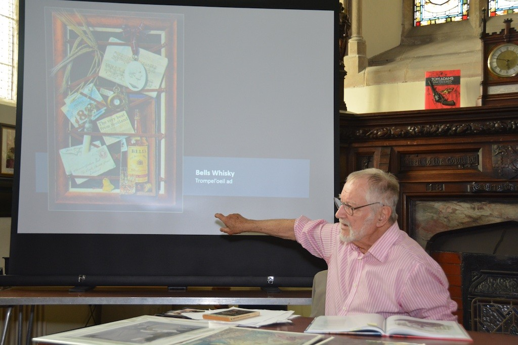 Tom Adams discusses his book-cover art at the Guildhall